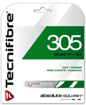 Tecnifibre SQUASH 305 GREEN 17 Squash String - 10 m(Multicolor)