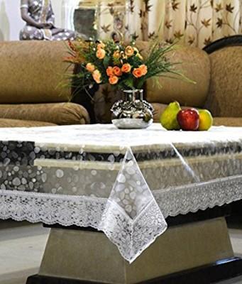 Kart Bazaar Self Design 6 Seater Table Cover(Silver Border, PVC, Plastic) at flipkart