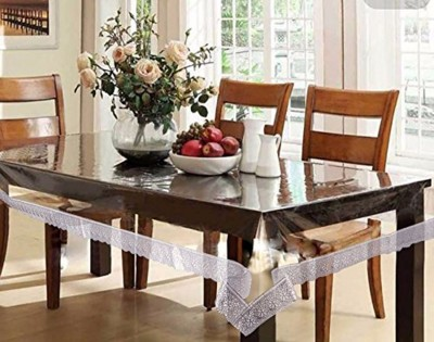 Kart Bazaar Printed 6 Seater Table Cover(Silver Border, PVC, Plastic) at flipkart