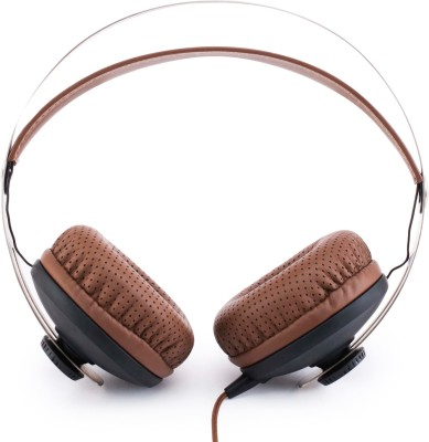 boAt BassHeads 800 Wired Headset with Mic(Brown, On the Ear) 1