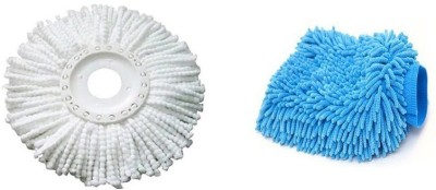 bajrang Combo of mop Refill(01 pc.) and Wet and Dry Microfiber Glove (01 pc.) Home Cleaning Set  available at flipkart for Rs.175