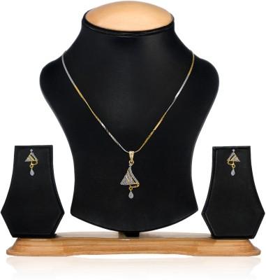 Oleva Alloy Jewel Set(Gold, Silver) at flipkart