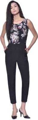 Aayu Solid, Floral Print Women's Jumpsuit