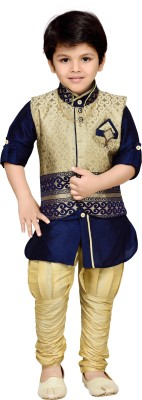AJ Dezines Boys Festive & Party Kurta, Waistcoat and Pyjama Set