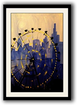 Artifa Merry Go Round framed wall painting Canvas Painting(14 inch x 10 inch)  available at flipkart for Rs.499