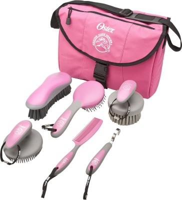 Oster PINK EQUINE GROOMING TOOLS PACK - 7 PCS Rakes for  Horse