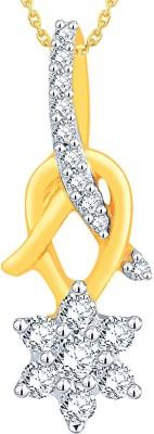 Nakshatra 0.15 ct Delightful 18kt Diamond Yellow Gold Pendant(Yellow Gold Plated) at flipkart