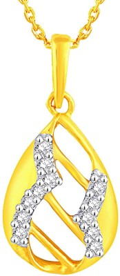 Sangini 0.1 ct Delightful 18kt Diamond Yellow Gold Pendant(Yellow Gold Plated) at flipkart
