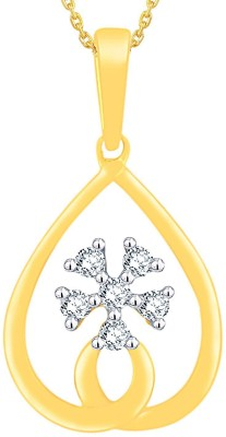 Nakshatra 0.07 ct Delightful 18kt Diamond Yellow Gold Pendant(Yellow Gold Plated) at flipkart