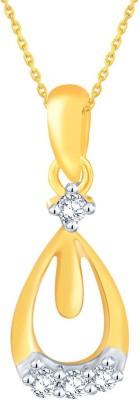 Sangini 0.03 ct Delightful 18kt Diamond Yellow Gold Pendant(Yellow Gold Plated) at flipkart