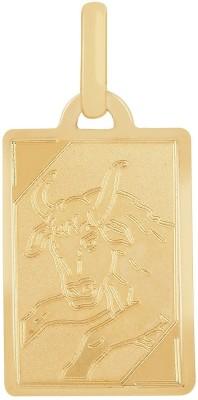 TBZ TheOriginal Tauras Horoscope 14kt Yellow Gold Pendant TBZ TheOriginal Pendants   Lockets