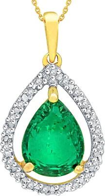 Sangini Designer Diamond Lumineux Uno Pendant(Yellow Gold Plated) at flipkart