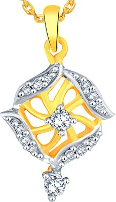 Sangini 0.11 ct Delightful 18kt Diamond Yellow Gold Pendant(Yellow Gold Plated) at flipkart