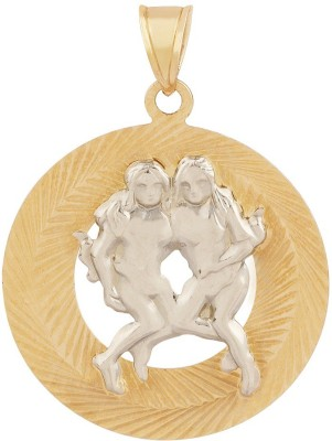 TBZ TheOriginal Gemini Horoscope 14kt Yellow Gold Pendant TBZ TheOriginal Pendants   Lockets