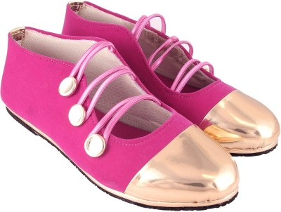 Stellar Collections Monk Strap For Women(Pink, Gold)