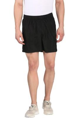 Puma Solid Men Black Basic Shorts