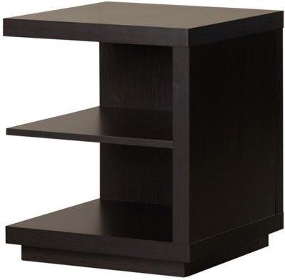 black square black square End Table Engineered Wood End Table(Finish Color - dark brown)
