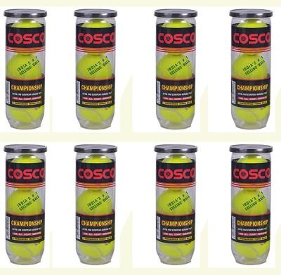 COSCO Championship Cricket Tennis Ball Pack of 24, Green COSCO Cricket Balls