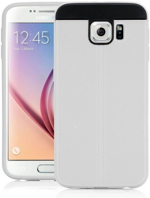 Swan Back Cover for Samsung Galaxy S6 duos(White, Rubber, Plastic)