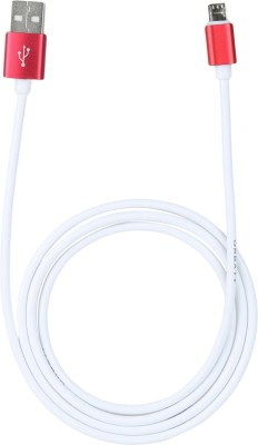 Orbatt High Speed Plum Axe Plus Micro USB Cable(Compatible with Plum Axe Plus, White, Red, Sync and Charge Cable) at flipkart