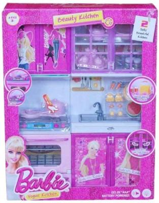 M.K. Enterprises Barbie Kitchen Set  available at flipkart for Rs.889
