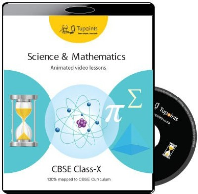 Tupoints CBSE Class 10 Science and Mathematics Multimedia video lessons(DVD) at flipkart