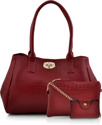 Mark & Keith Women Maroon Hand-held Bag