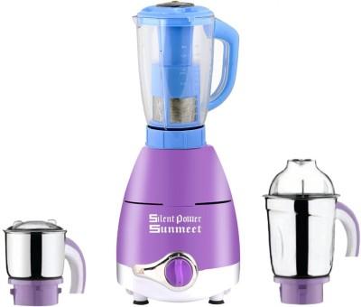 SilentPowerSunmeet ABS Plastic LPMG17_138 600 W Juicer Mixer Grinder(Lavender, 3 Jars)