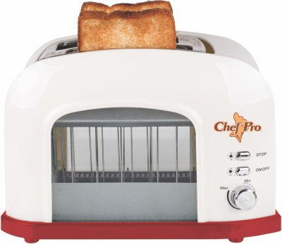 Chef Pro Toast Lift Transparent 750 W Pop Up Toaster(Off White) at flipkart