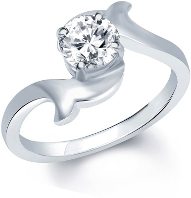 VK Jewels Alloy Rhodium Plated Ring at flipkart