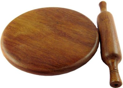 Areesha Sales Wooden Chakla Belan Rolling Pin & Board(Brown, Pack of 2) at flipkart