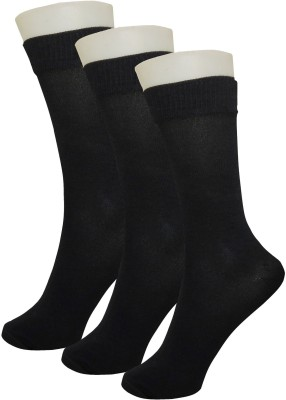 Neska Moda Boys & Girls Solid Mid-calf Length Socks(Pack of 3)