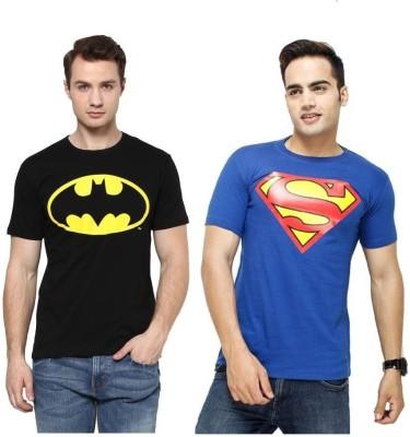 PSK Printed Men Round Neck Multicolor T-Shirt(Pack of 2) Flipkart