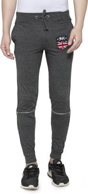 Teesort Embellished, Solid Men Grey Track Pants at flipkart