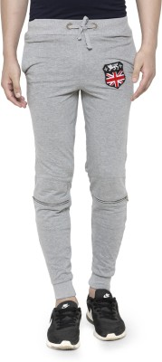 Teesort Solid Men Grey Track Pants at flipkart