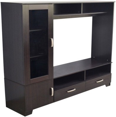 Eros Breakfront Engineered Wood TV Entertainment Unit(Finish Color - Walnut)