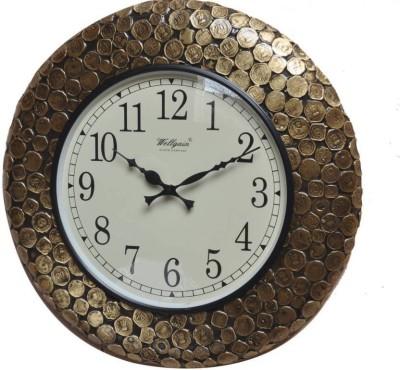 india wooden handi craft Analog 5 cm X 45 cm Wall Clock(Black, With Glass)