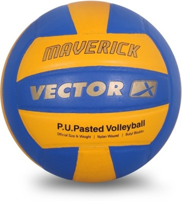 Vector X Maverick-18P Volleyball - Size: 4(Pack of 1, Blue, Yellow)