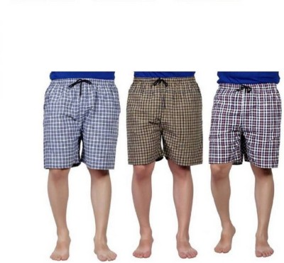 Super Deal Bazzar Store Checkered Men's Boxer(Pack of 3)