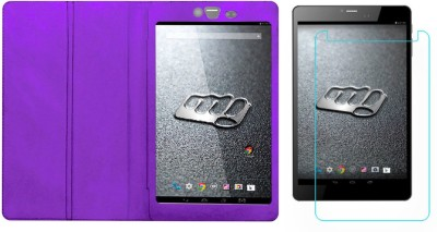 ACM Case Accessory Combo for Micromax Canvas Tab P690 Purple, Transparent