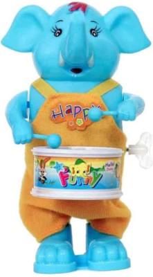 vbenterprise Latest Multicolour Windup Elephant Drummer Toy(Multicolor)