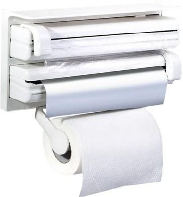 Cubee Triple For Cling Film Wrap Aluminium Foil Kitchen Roll Paper Dispenser  available at flipkart for Rs.549
