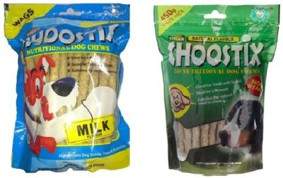 Choostix Milk Flavour & Natural Flavour Dog Treat Milk Dog Chew(450 g, Pack of 2)