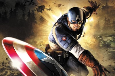 RadhaKripa captain america CA Poster Paper Print(18 inch X 12 inch, Rolled)  available at flipkart for Rs.249