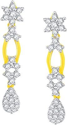 Nakshatra Designer Yellow Gold 18kt Diamond Dangle Earring(Yellow Gold Plated) at flipkart