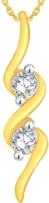 Shuddhi Designer 18kt Diamond Yellow Gold Pendant(Yellow Gold Plated) at flipkart
