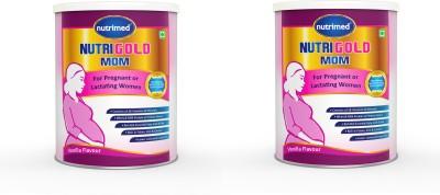 Nutrimed NutriGold Mom - For Pregnant & Lactating Women - Pack of 2 Nutrition Drink(200 g, 200 g, Vanilla)