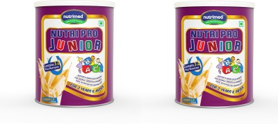 Nutrimed Nutri Pro Junior (For 2 Years & Above) Pack of 2 Nutrition Drink(200 g, 200 g, Vanilla)