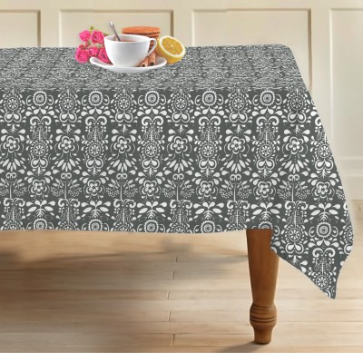 Airwill Damask 6 Seater Table Cover(Grey, Cotton) at flipkart