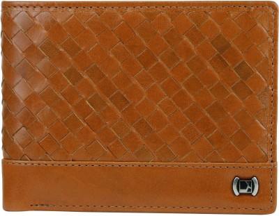 Da Milano Men Tan Genuine Leather Wallet(6 Card Slots)